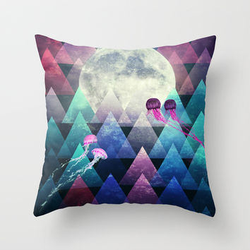 Sleeping Forest Throw Pillow by SensualPatterns