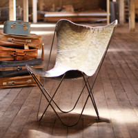 Iron Sling Chair in Raw Metal