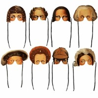 Historical Figures Masks Set of 8 - MODERN LOLA