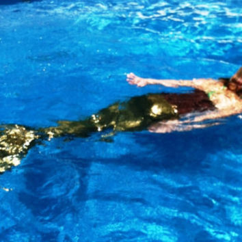 DELUXE Child's MERMAID tail  swimmable FORMED by Atutuforyoutoo