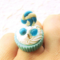 Food Ring Kawaii Blueberry Candy Cup Miniature by SouZouCreations