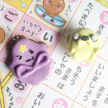 Adventure Time Jake & Lumpy Space Princess Charms by KeaiCreations