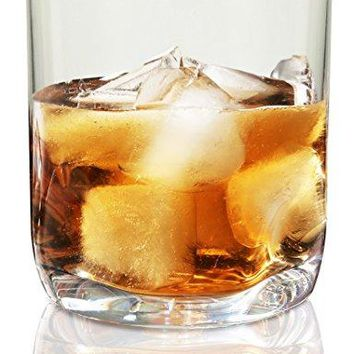 Vivocci Unbreakable Tritan Plastic Rocks 125 oz Whiskey amp Double Old Fashioned Glasses | Thumb Indent Base | Ideal for Bourbon amp Scotch | Perfect For Homes amp Bars | Dishwasher Safe Barware | Set of 2