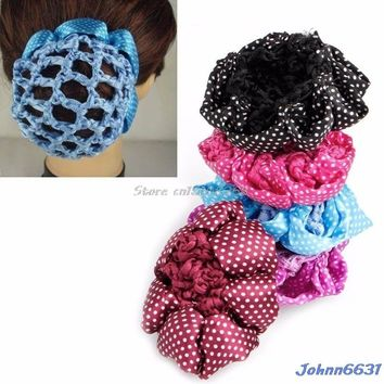 Hair Accessories Women Bun Cover Snood Hair Net Ballet Dance Skating Crochet Decor Lovely Hairdressing Tool #Y207E# Hot Sale