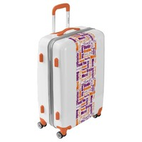 Purple and Orang Multilingual Thank You Word Cloud Luggage