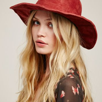 Free People Wanderlust Suede Hat