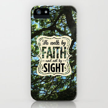 2 Corinthians 5:7 Faith not Sight iPhone & iPod Case by Pocket Fuel
