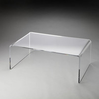 Butler Specialty Crystal Clear Acrylic Cocktail Table - 3398140