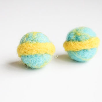 Handmade Needle Felted Wool Mini Planet Decorations. Adorable Felted Toys. Perfect gift for baby shower, wedding, birthday, and children.