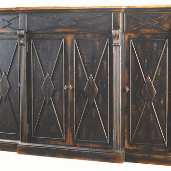 "Navi 77"" Diamond Credenza, Ebony, Buffets & Sideboards"