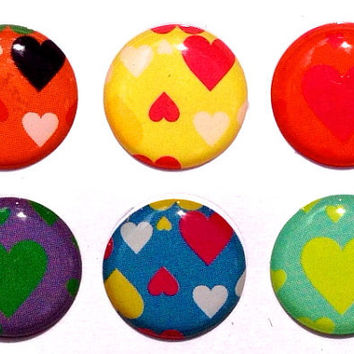 Valentine's Hearts - 6 Piece Home Button Decal Stickers for Apple iPhone, iPad, iPad Mini, iTouch