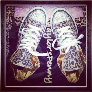 Leopard Women Converse with Swarovski