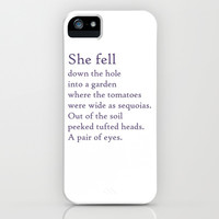 Tomato Sequoias iPhone & iPod Case by Ccaracal: Alice in Wonderland Fairy Tale Retelling