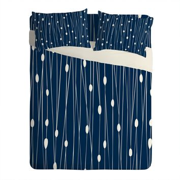 Heather Dutton Navy Entangled Sheet Set Lightweight