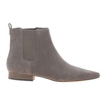 MICHAEL Michael KORS Pierce Flat Suede Grey Flat suede leather ankle boots - Shoes