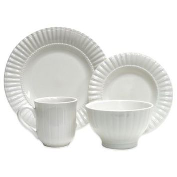 Thomson Pottery Maison 16-Piece Dinnerware Set in White