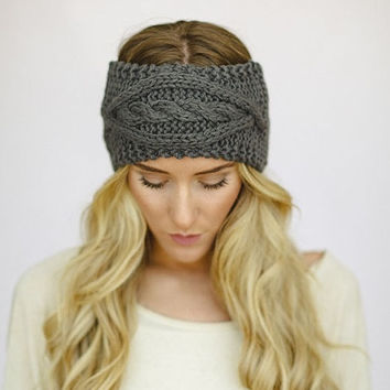 Women Turban Crochet Twist Knitted Headwrap Headband Winter Warmer Hair Band = 1946816324