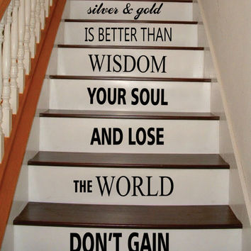 Dont Gain the World Bob Marley Stairs Decor Decal Sticker Wall Vinyl Art