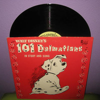 Vinyl Record Album Walt Disney's 101 Dalmations in Story & Song LP 1963 Children's Classics