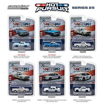 Hot Pursuit Series 25, 6pc Set 1:64 Diecast Model Cars by Greenlight