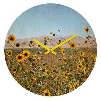 Lisa Argyropoulos Roadside Wild Ones Round Clock
