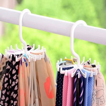 360-degree Rotating Tie Rack Adjustable Belt Tie Hanger Holds 20 Neck Ties Organizer Multi-purpose Storage Holders Shelf