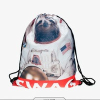 Swag Sloth Drawstring Backpack/Bag