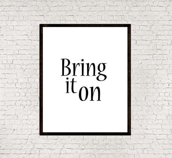 bring it on instant typographic from mixarthouse
