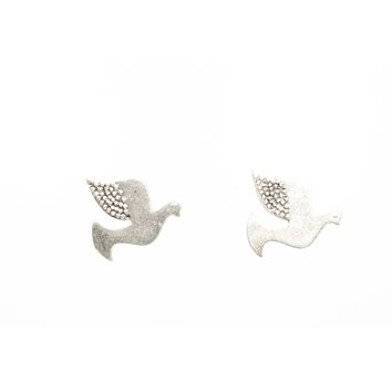 Dove Silver Plated Stud Fashion Earrings