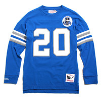 Barry Sanders Detroit Lions Name & Number Longsleeve Jersey Blue