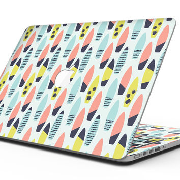 Vibrant Colored Surfboard Pattern - MacBook Pro with Retina Display Full-Coverage Skin Kit