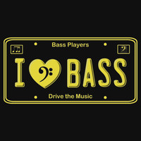 I (Heart) Bass -- License Plate Style for Bass Players by Samuel Sheats