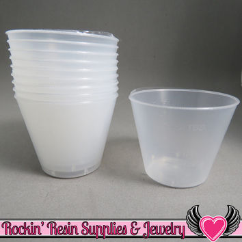 1 oz Plastic Resin Graduated Mixing Cups (50 pieces)