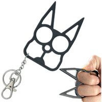 Cat Keychain Metal Self Defense