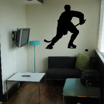 Vinyl Wall Decal Sticker Hockey Player #221