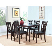 "Powell  Masten ""Espresso"" 7 Pc Table and Chairs"
