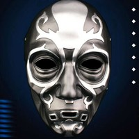 Harry Potter Series Death Eater Mask Halloween Horror Malfoy Lucius Resin Masks Private Party Cosplay Masquerade Costume Props