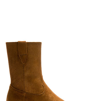 Saint Laurent Brown Suede Wyatt Cowboy Boots