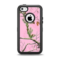 The Pink Real Camouflage Apple iPhone 5c Otterbox Defender Case Skin Set