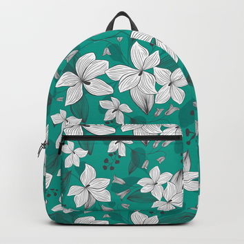 Avery Aqua Backpack by heatherduttonhangtightstudio