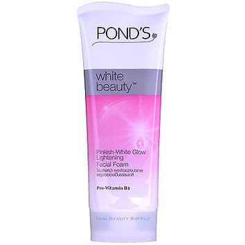 Pond's White Beauty Pinkish White Glow Lightening Facial Foam 100g 3.5oz