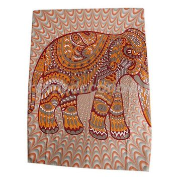 Elephant Tapestry Indian Wall Hanging Bohemian Hippie Bedspread Throw Decor