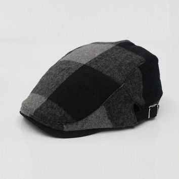 New Plaid Ivys Polo Golf Hat Cap-Decky 901 Black Red Purple or Teal