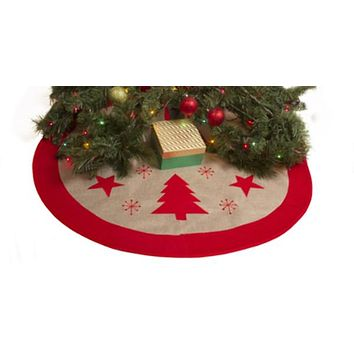 "Festive Burlap 36"" Christmas Tree Skirt - 48 Units"