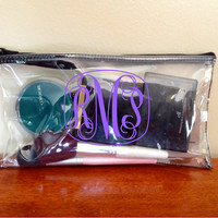 Clear Make Up Bag, Pencil Pouch, Clear Clutch