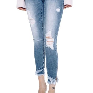 Kan Can Medium Wash Marisa-Emilia Ankle Skinny Jeans