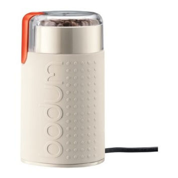 Bodum Bistro Electric Coffee Grinder in Off White