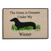 """The Grass Is Greener Under My Wiener"" Doormat"