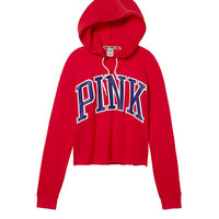 Raw Edge Pullover - PINK - Victoria's Secret