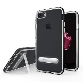 Spigen Crystal Hybrid Clear Case with Magnetic Metal Kickstand for Apple iPhone 7 8